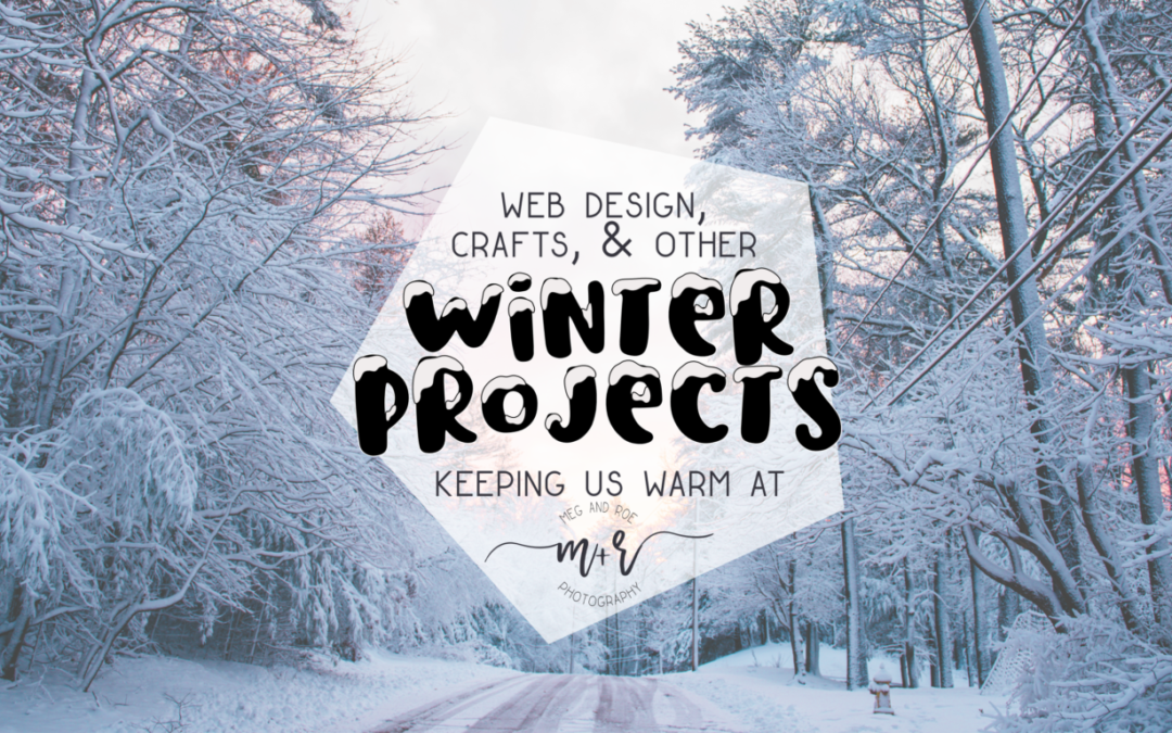 Winter projects at Meg and Roe Photography : creativity keeps us warm.